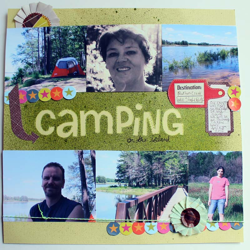 Punk Projects Camping Scrapbook Layouts