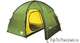 Пример кемпинговой палатки полусферы