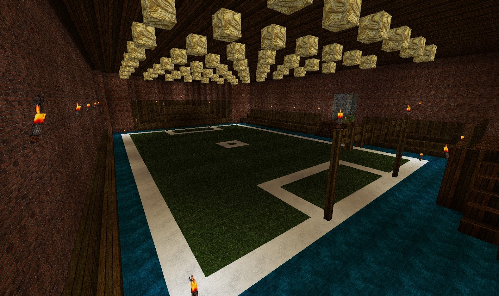 Mansion with indoor soccer field  JD's Gaming Blog: Minecraft Creations: The Brick Mansion Chapter 3 ...