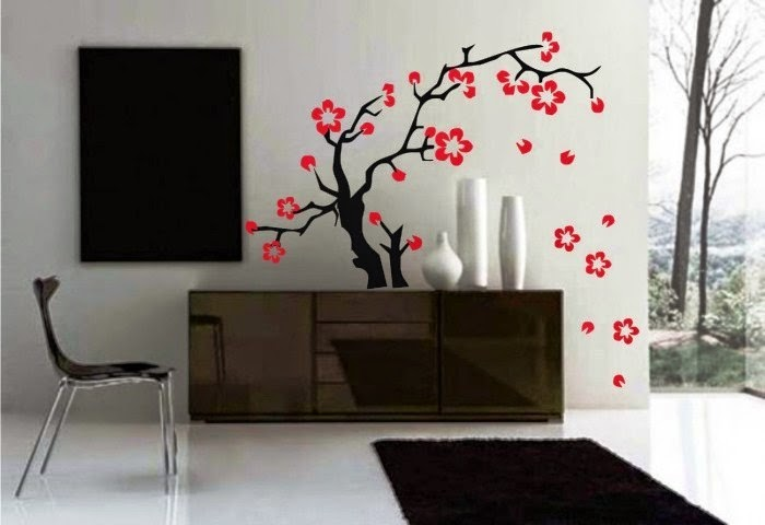 japanese cool wall painting ideas
