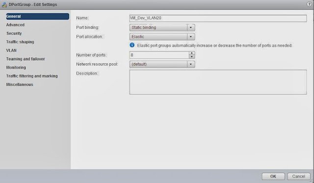 vSphere Distributed Switch Part 14 - Configuring dvPortGroup General Settings