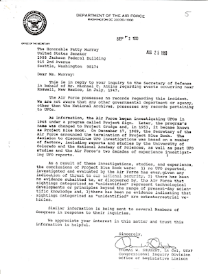 Letter To Sen Patty Murray 8-25-1993