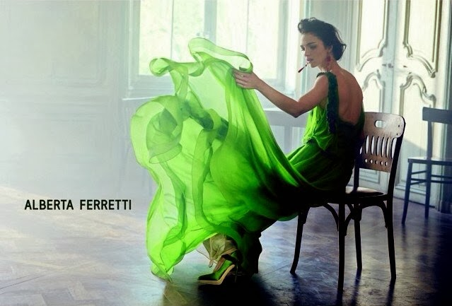 Magazine Photoshoot : Mariacarla Boscono Photoshot For Alberta Ferretti Magazine Verão 2014 Issue