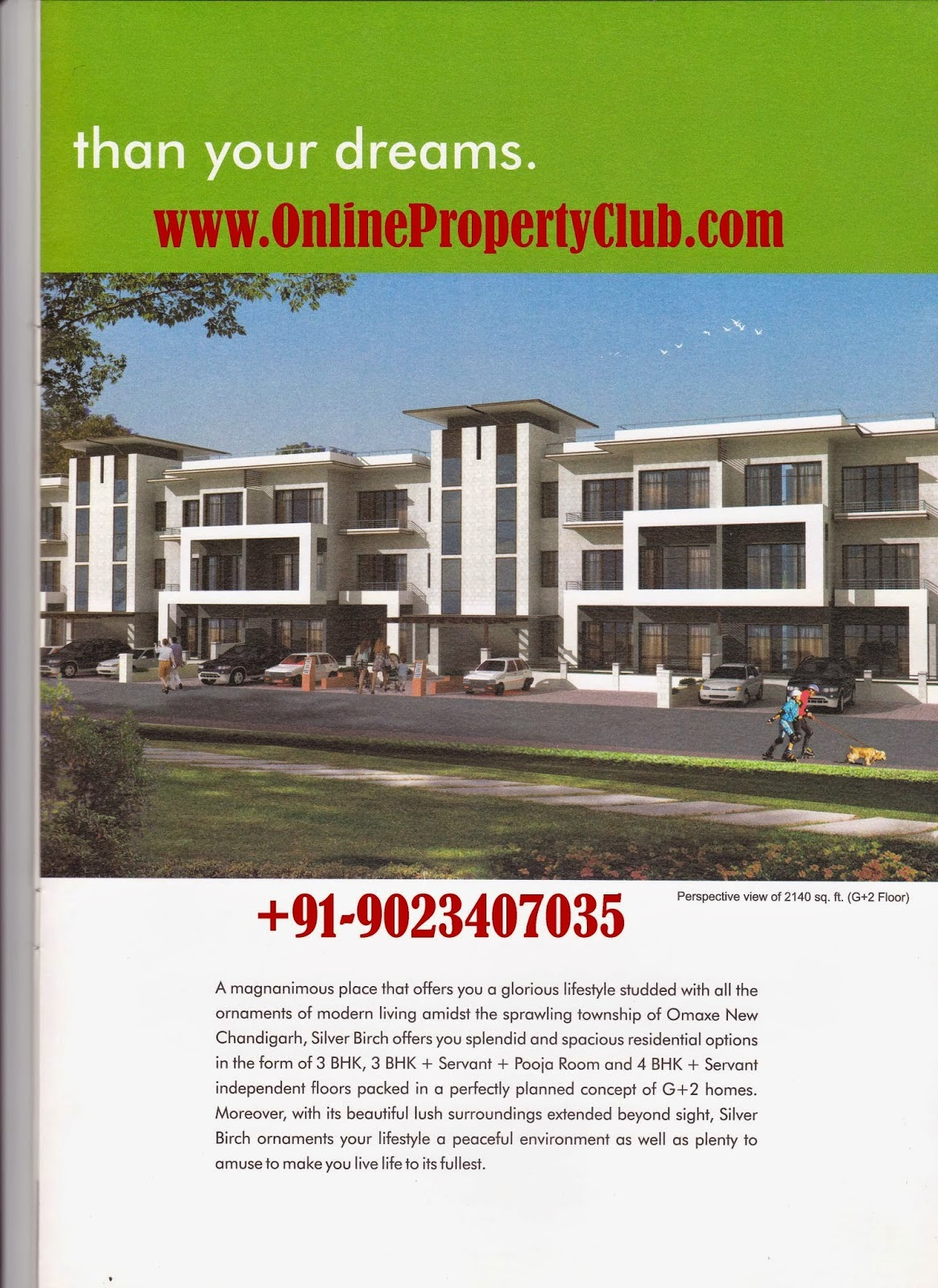 Omaxe Silver Birch, 2,3,4 BHK Residential Flats / Apartments, Omaxe Silver Birch2,3,4 Bedrooms Property for Sale in Mullanpur, New Chandigarh - Omaxe .
