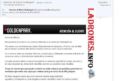 goldenpark+limitacion+cierre+apuestas+direccion general de ordenacion del juego | ley del juego