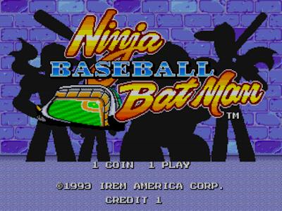 街機:棒球殺手-野球格鬥(Ninja Baseball Batman),經典的棒球動作闖關遊戲!