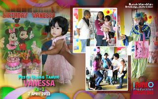 Foto Video Hari Ulang Tahun Vanessa ke-1