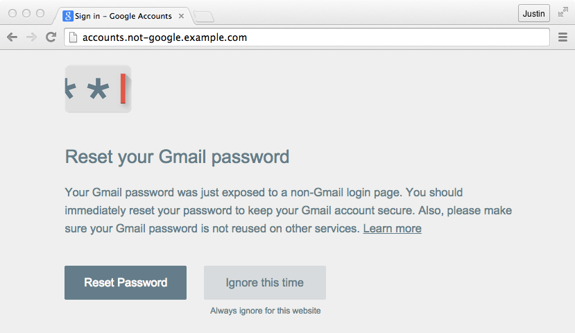 Password Alert Chrome Extension To Protect Your Google