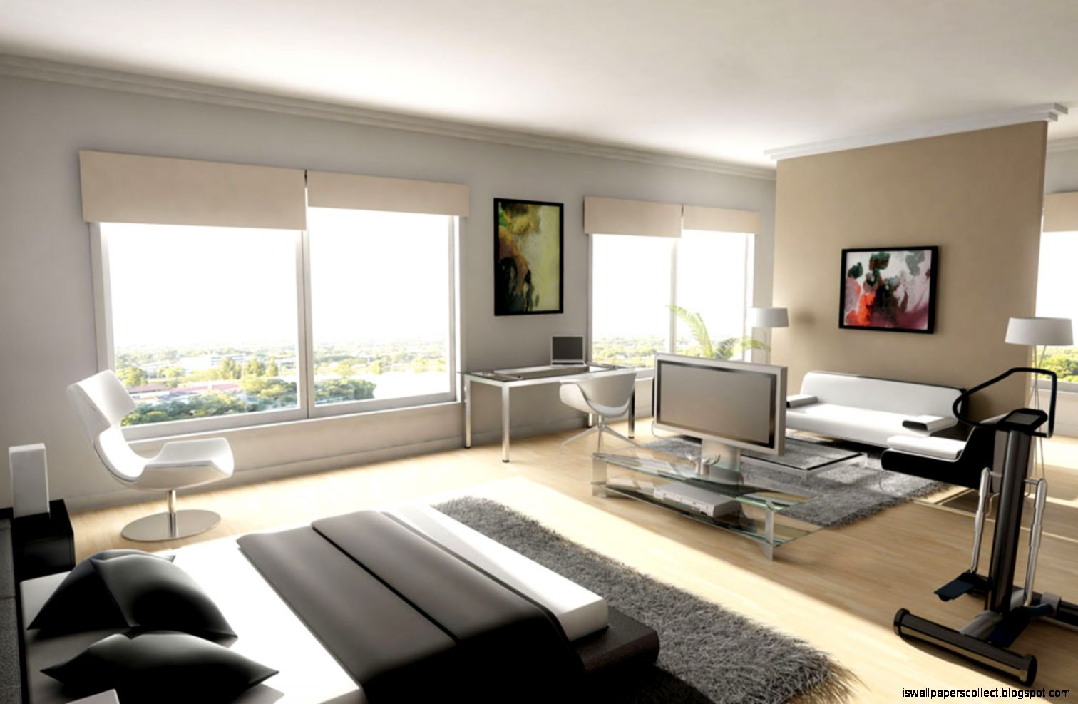Interior Modern Wallpaper Home Wallpapers Collection