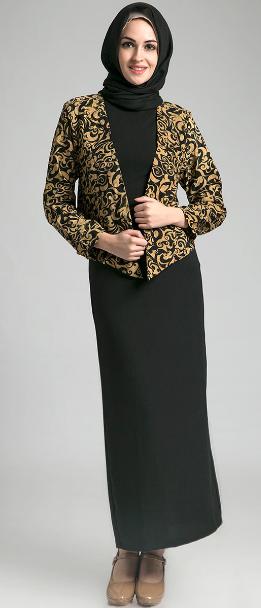 Contoh Model Baju Muslim Kerja Batik