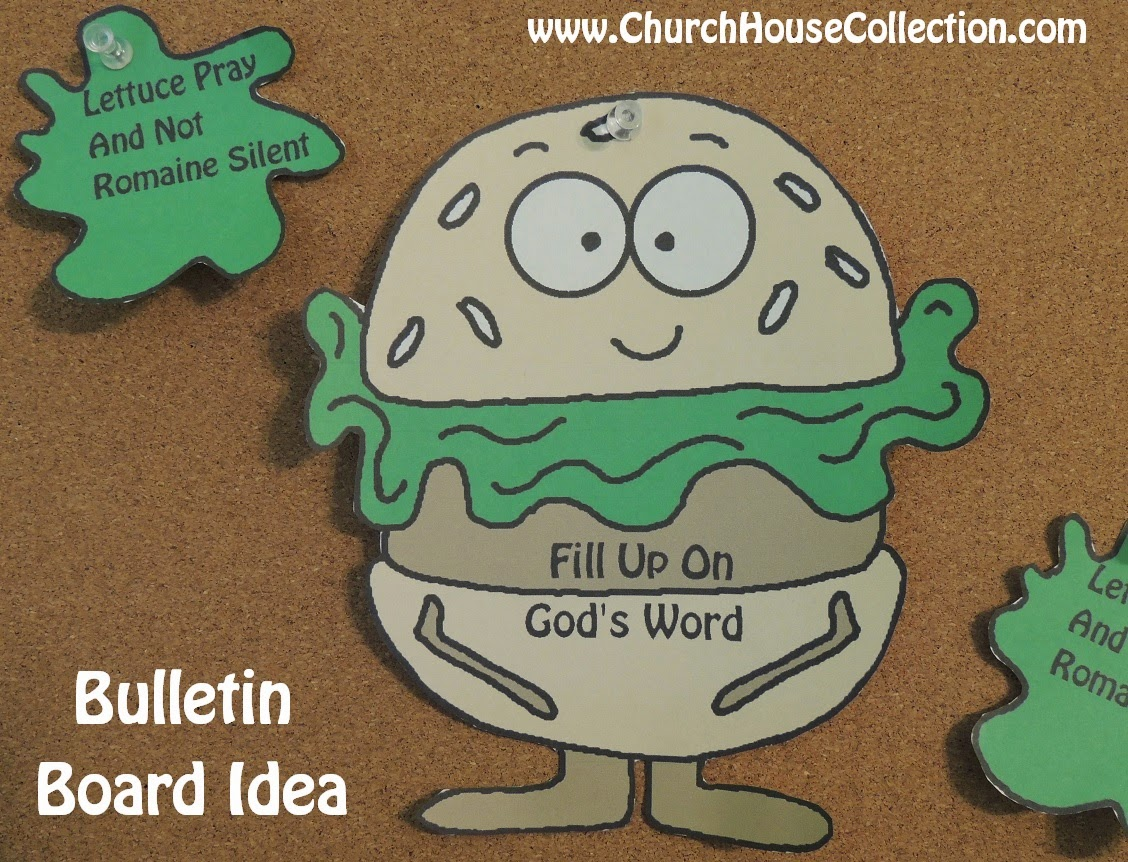 Church house collection blog hamburger printable cutout for Childrens sunday school crafts