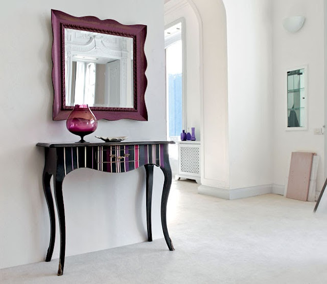 Muebles con rayas for Muebles pintados a rayas
