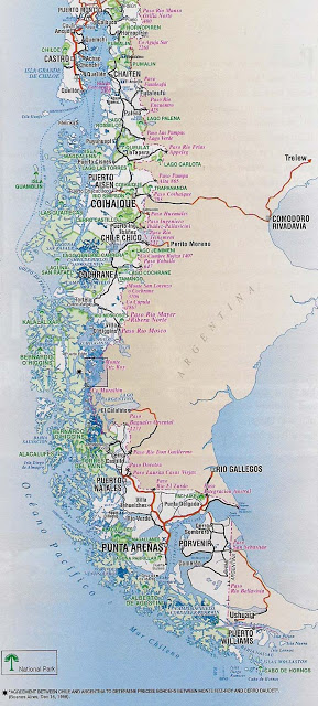 Mapa rutero chile patagonia