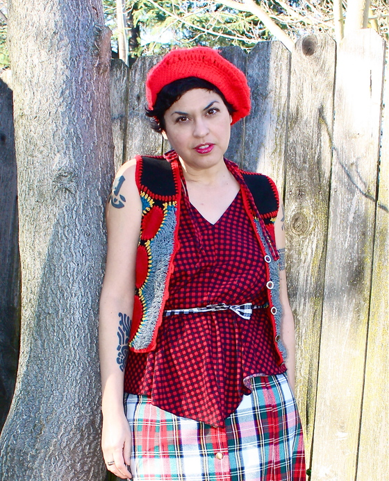 outfit post: Maxi-mum Plaid