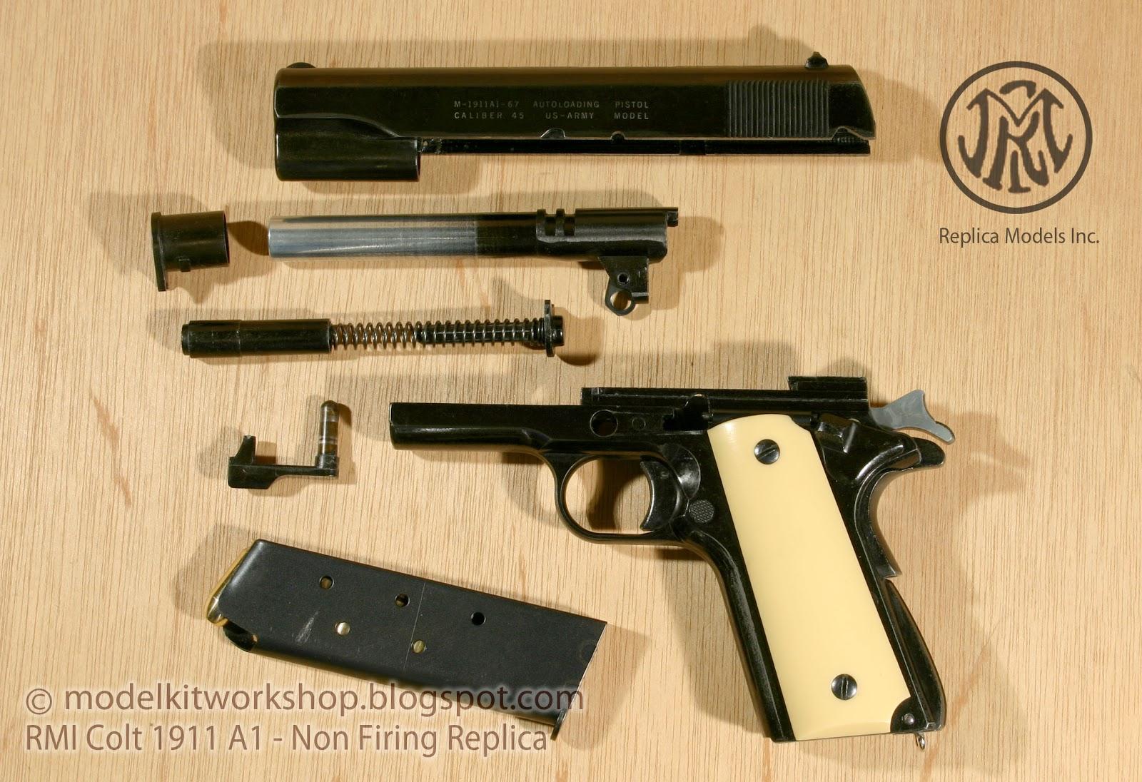 Modelkit workshop non firing replica metal rmi colt for Replica mobel england
