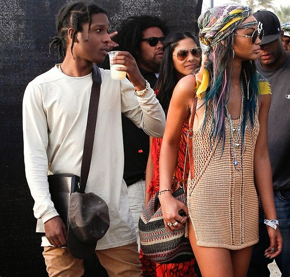 Stylish-Celebrity-Fashion-Couples-Asap-Rocky-and-Chanel-Iman