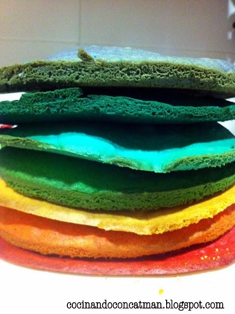 rainbow1 Rainbow Cake (Tarta Arcoiris)