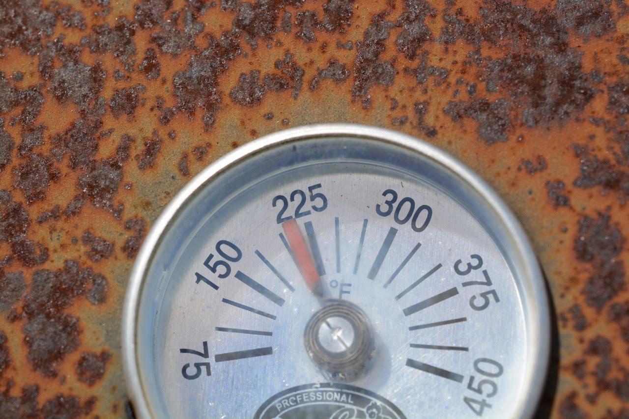 Smoker temperature dial