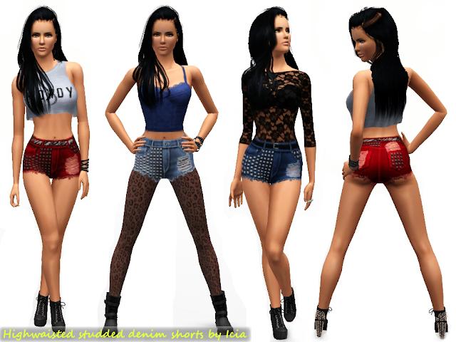 High Waisted Studded Shorts by Icia Highwaistedshorts