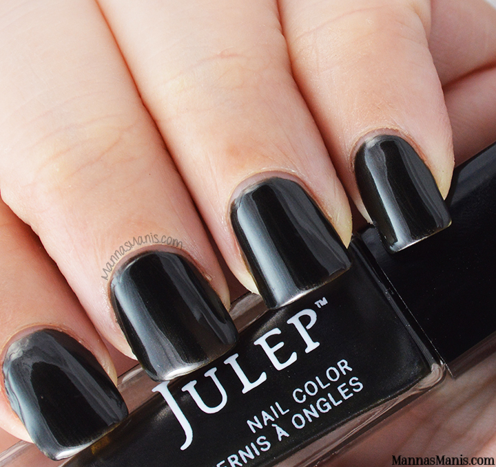 Julep keiko, a black shimmery nail polish