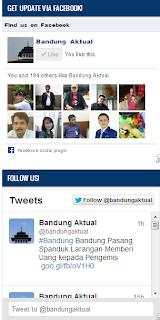 Pasang Page Facebook dan Twitter di Blog
