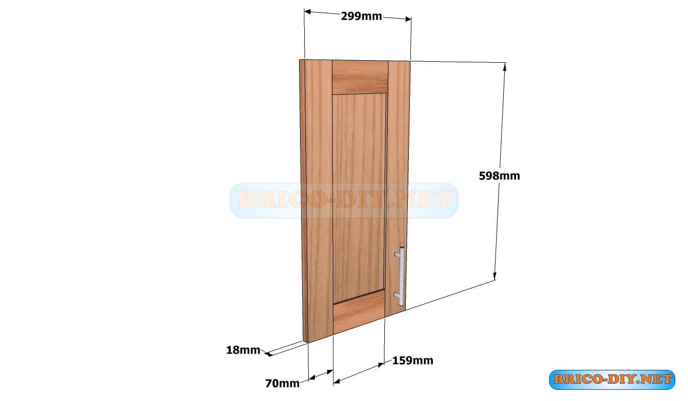 Mueble de cocina plano alacena de madera cedro 60 cm de for Muebles de cocina 60 cm