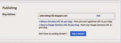 Purchase Custon Domain Name From Blogger Settings Now Possible