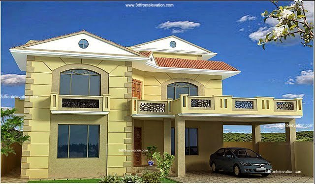 Front Elevation Of 6 Marla House : D front elevation pakistan kanal marla plan