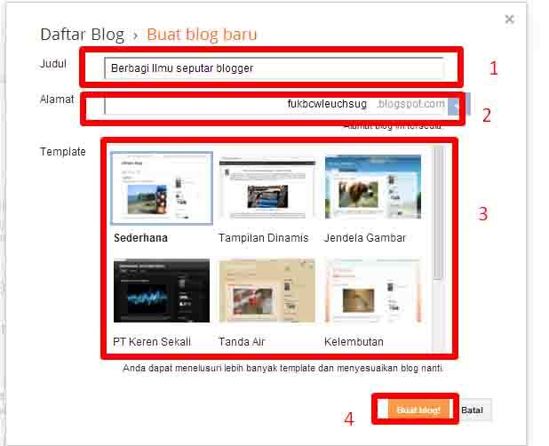 Tutorial cara membuat blog gratis,cepat dan lengkap dengan gambar
