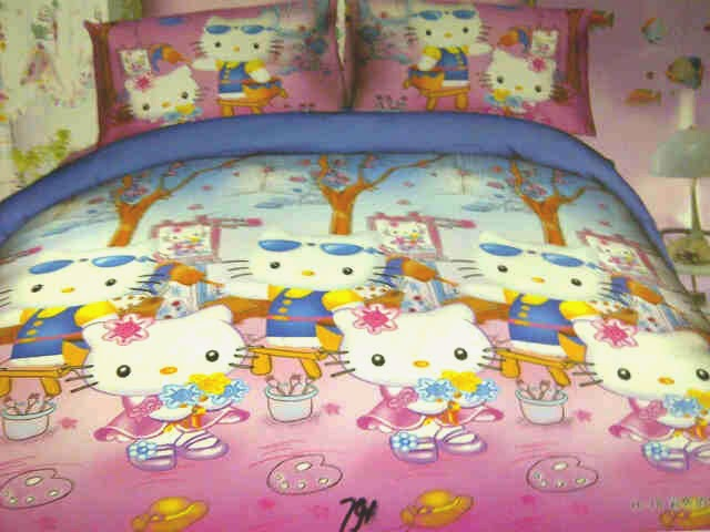 Sprei Anak Motif Hello Kitty