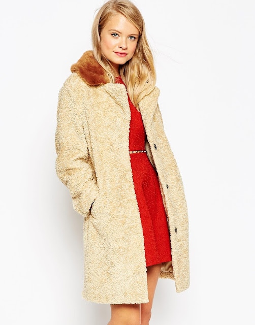 asos teddy bear coat, borg coat,