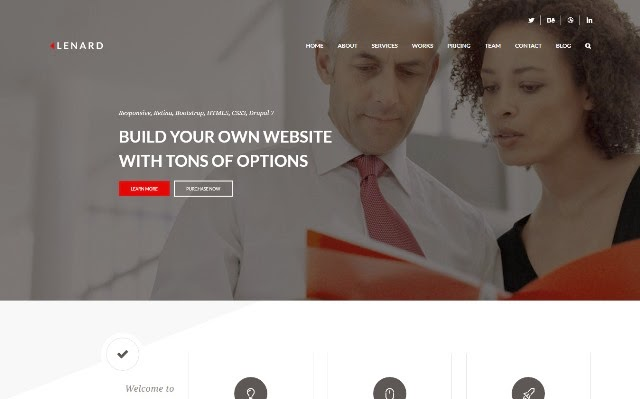 Lenard - Responsive One Page Business Drupal Theme
