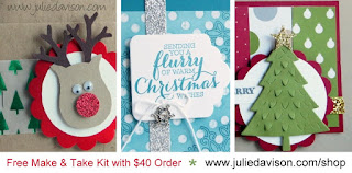 November 2015 Make & Take Kit from Julie Davison -- FREE with $40+ order in November 2015. Shop Now at http://juliedavison.com/shop