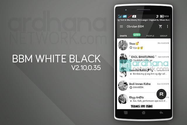 BBM White Black 37154 - BBM Android V2.10.0.35