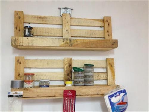diy pallet shelves  2
