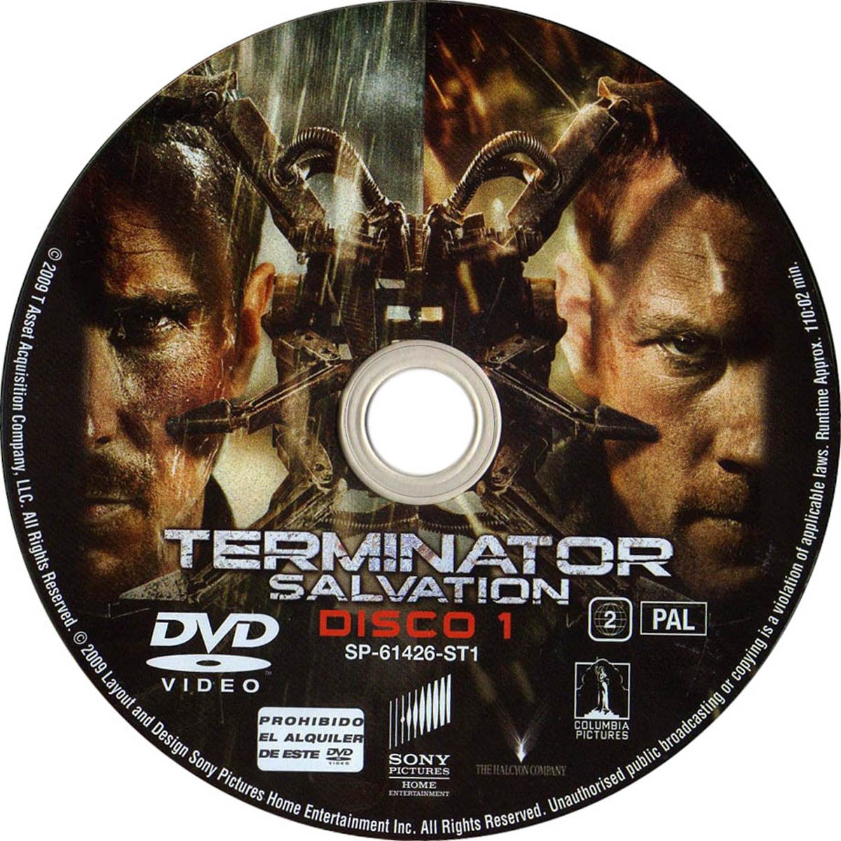Terminator Salvation Movie DVD Label