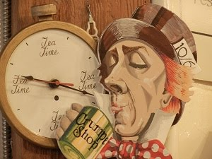 CLOCK ON WALL OF THE CRUMPET SHOP IN SEATTLE
