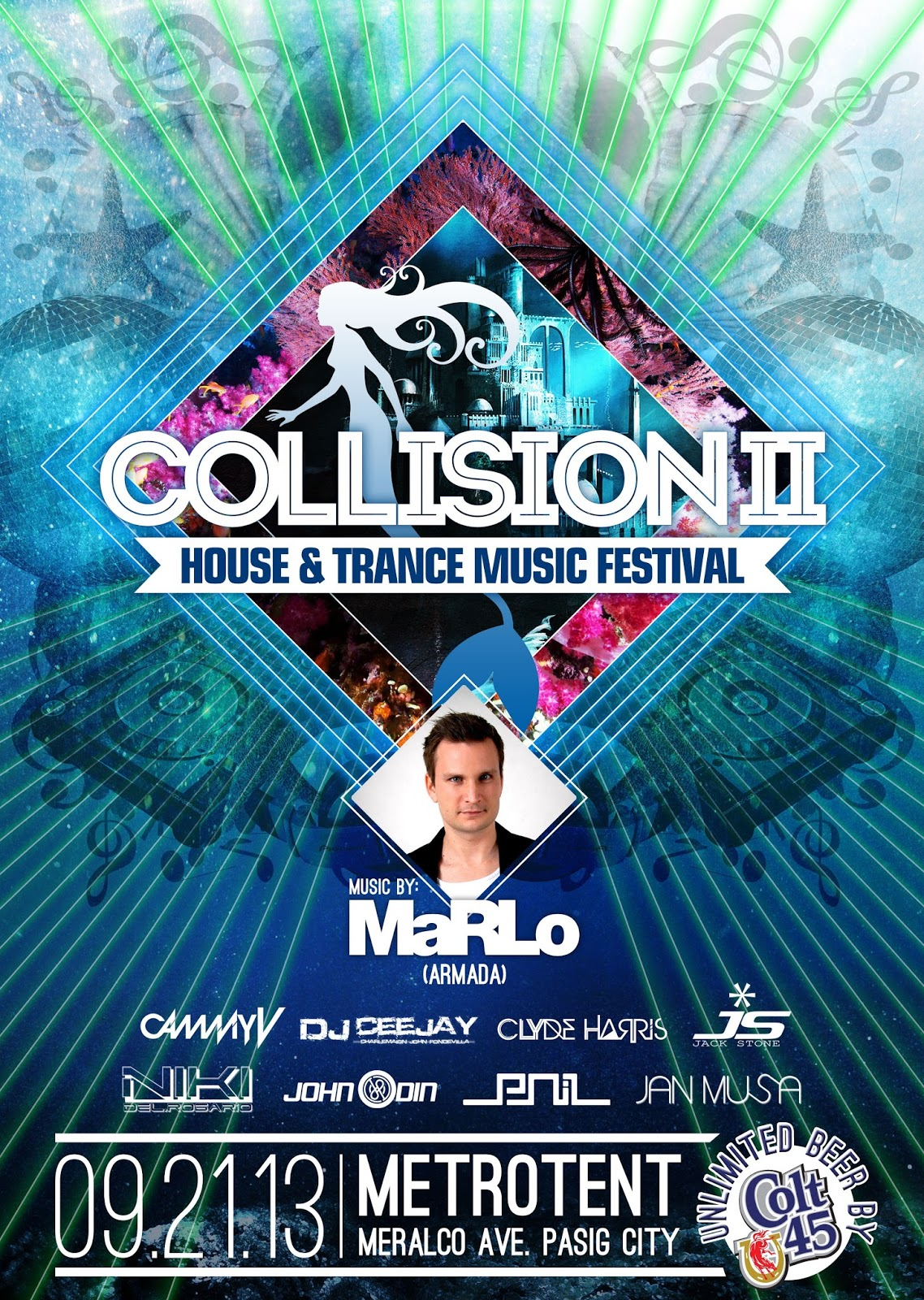 Collision 2 house and trance music festival on september for Trance house music