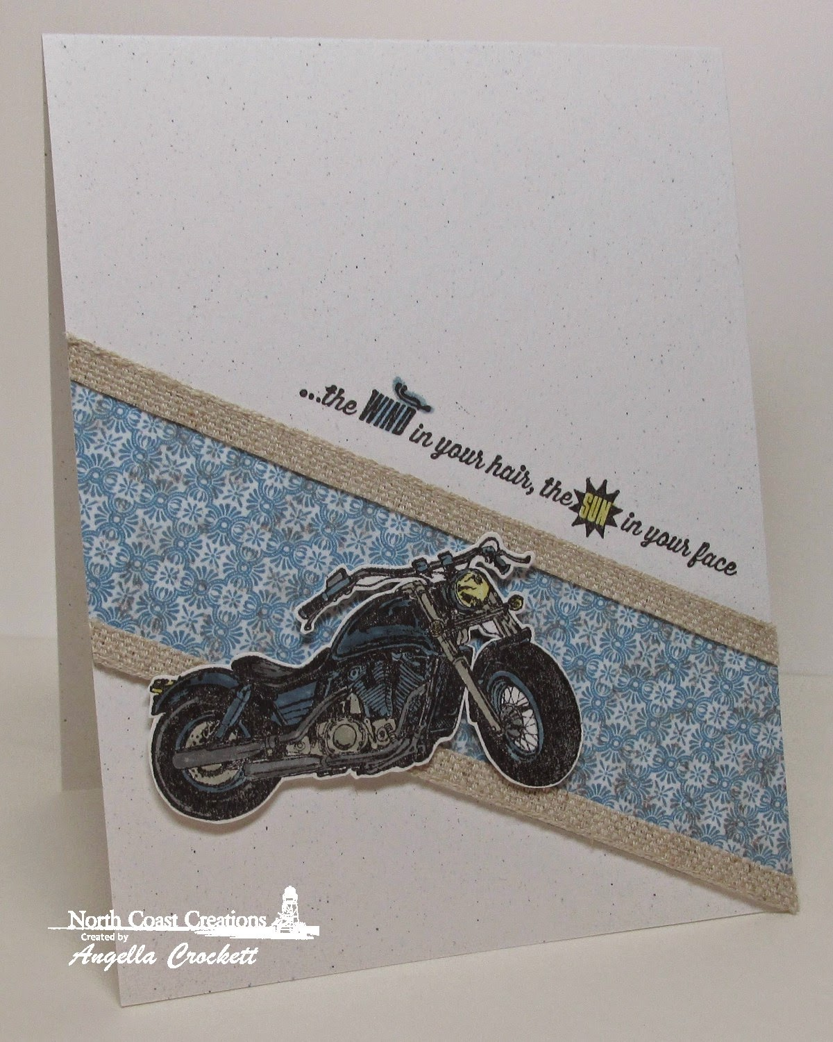 North Coast Creations King of the Road, Our Daily Bread designs Blooming Garden Paper Collection, Card Designer Angie Crockett