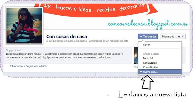 Como crear una lista de intereses en facebook
