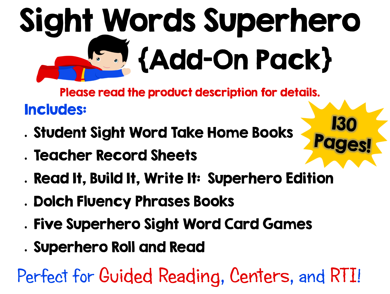 130 pack add superhero pages books for older words sight students of sight  on sight word