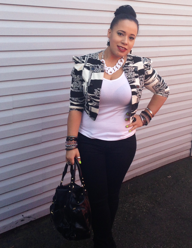 spring, black, white, fashion, blogger