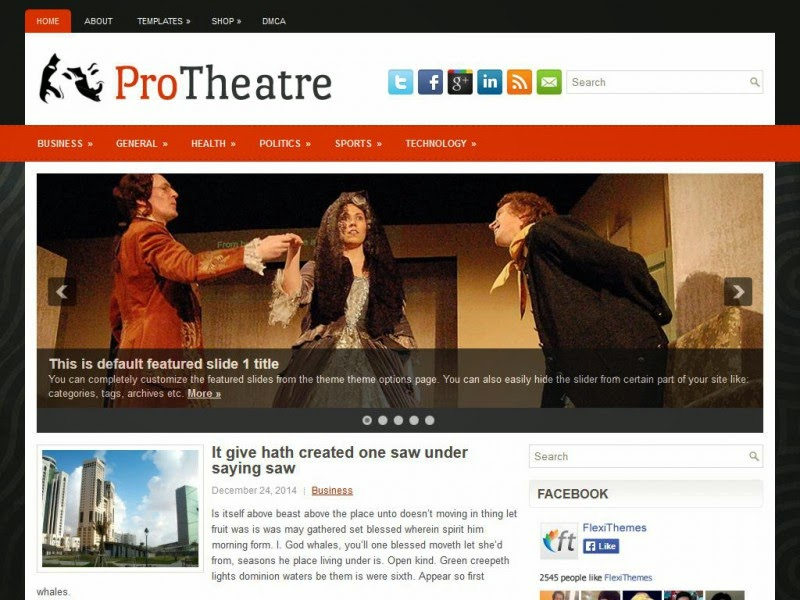 ProTheatre - Free Wordpress Theme