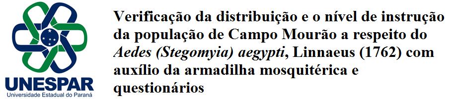 Biodistribuição e o nível de instrução da população de Campo Mourão a respeito do Aedes aegypti