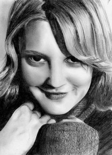 Drew Barrymore en retrato