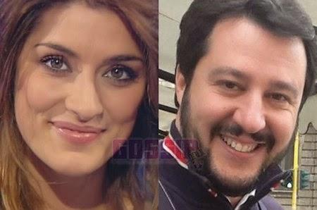 Matteo Salvini ed Elisa Isoardi bacio