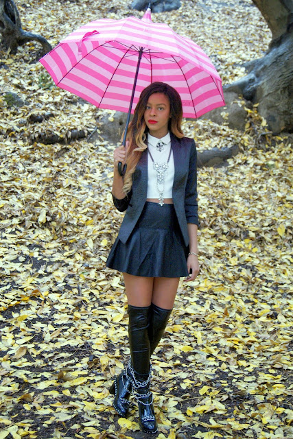 leather boots, ombre hair, allthingsslim, DIY, chanel, look for less, circle skirt