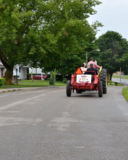 Vintage Cockshutt Tractor Wedding