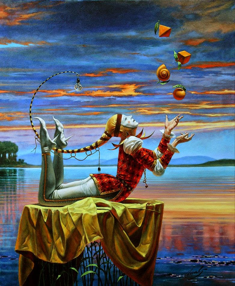 07-Michael-Cheval-Comparative-Analogy-II-Surreal-Absurdist-Paintings-www-designstack-co