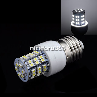 N4U8 E27 48 SMD3528 LED Corn Light Cold White Bulb Lamp 200V-240V/3W